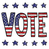 Voting is your patriotic duty sketch Royalty Free Stock Photography