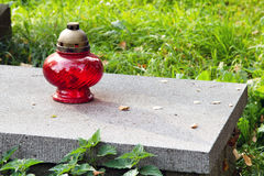 Votive κερί στον τάφο, Στοκ Εικόνα