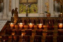Votive κεριά Στοκ φωτογραφίες με δικαίωμα ελεύθερης χρήσης