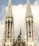 Votive Башни Близнецы церков в вене Стоковое Изображение RF