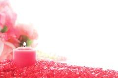 votive свечки кристаллическое декоративное розовое Стоковая Фотография
