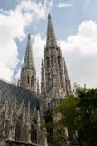 Votive церковь Votivkirche расположенное на Ringstrasse в VI Стоковая Фотография