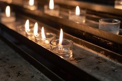 Votive altar in church. In south german historical city royalty free stock images