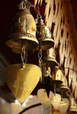Votive bells. Buddhist votive bells out of a temple in Thailand royalty free stock photography