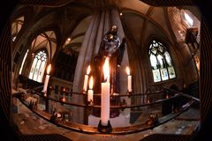 Votive candle in oxford University town christ church Stock Photo