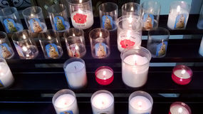 Votive candles Royalty Free Stock Images