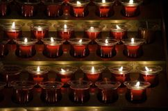 Votive Candles Stock Image