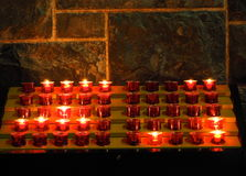 Votive Candles at Galway Cathedral Ireland Royalty Free Stock Photos