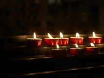 Votive candles Royalty Free Stock Photography
