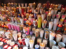 Votive Candles at La Villa de Guadalupe Stock Image