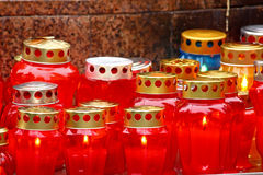 Votive candles Stock Photography