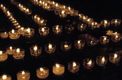 Votive candles. In St. Steven Cathedral (Stephansdom) in Vienna, Austria Stock Photography