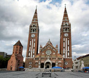 Votive church in Szeged, Hungary stock image