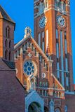 Votive church in Szeged, Hungary.Detail royalty free stock photos