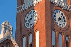 Votive church in Szeged, Hungary.Detail Royalty Free Stock Photo