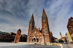 Votive church in Szeged, Hungary. Votive church and Dome square in Szeged, Hungary stock photo