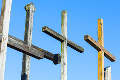 Votive crosses the symbol of christianity. Stock Photography