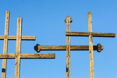 Votive crosses - the symbol of christianity. Royalty Free Stock Photo