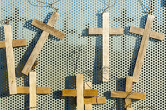 Votive crosses the symbol of Easter. Royalty Free Stock Image