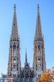 Votive curch in Vienna. The Votive church in vienna/ austria royalty free stock photos