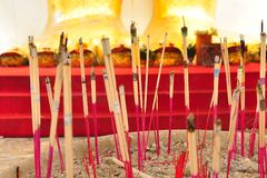 Votive joss sticks Stock Photos