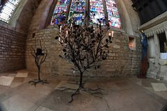 Votive kaars in kerk van de stadschristus van Oxford de Universitaire Royalty-vrije Stock Afbeeldingen