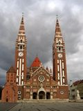 Votive Kathedraal 04 - Szeged, Hongarije Royalty-vrije Stock Foto