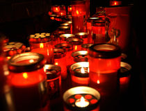 Votive lamps Royalty Free Stock Photography