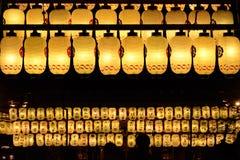 Votive lanterns at Yasaka shrine in Kyoto Japan Stock Photos