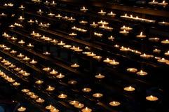 Votive lichten stock afbeelding