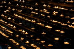 Votive lights stock image