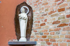 Votive monument to the Blessed Virgin Mary. And Jesus Christ royalty free stock photo