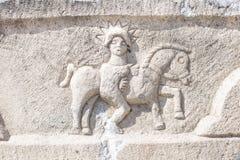 Votive stele Roman perios 2nd century A.D. Votive stele Roman period 2sd century A:D., modern day Eskisehir, Turkey stock photo