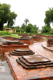 Votive stupas ruins Royalty Free Stock Photography