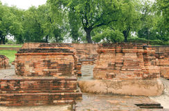 Votive Stupas ruins at Sarnath, India Stock Photo