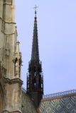 Votivkirche中央尖顶-维也纳 图库摄影