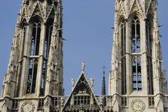 Votivkirche, iglesia, catedral, Viena fotografía de archivo libre de regalías