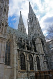 Votivkirche - Neo-Gothic church (Vienna/Austria). Votivkirche in Vienna - Roman Catholic church in neo-gothic style; opened up in 1879 Royalty Free Stock Image