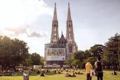 Votivkirche Vienne photo libre de droits
