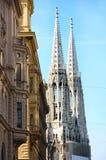 Votivkirche in Wenen, Oostenrijk stock foto's