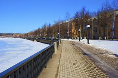 Votkinsk promenade in winter Stock Images