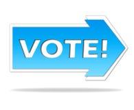 Voto! Imagens de Stock