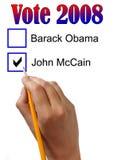 Voto 2008 Immagini Stock