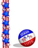 Voto 2008 del día de elección Fotos de archivo libres de regalías