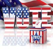 Voto 2012 Imagen de archivo libre de regalías