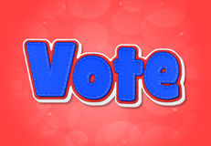 Voto ilustración del vector