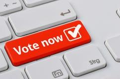 Voto ahora Foto de archivo libre de regalías