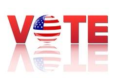 Voto América Imagens de Stock Royalty Free