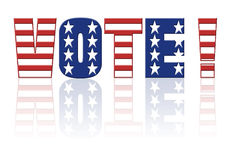 Voto americano Fotografía de archivo libre de regalías
