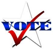 Voto da estrela Fotografia de Stock
